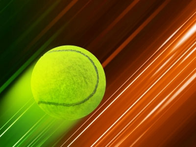 Tennis Ball On Speed Background Stock Photo-Feelart-freedigitalphotos.net